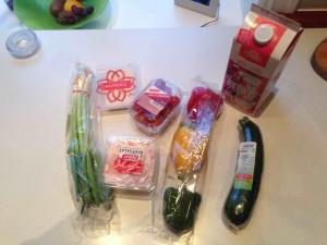 Dieser kleine Einkauf, welche fast das gesamte Gemüsesortiement des Supermarktes umfasste, kostete umgerechnet 18 €-
